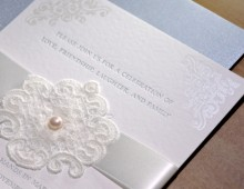 Pearl & Lace Wedding Invitation
